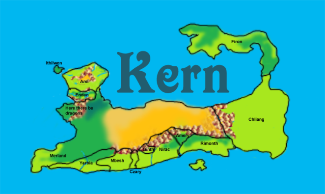 map of the fictional land of Kern