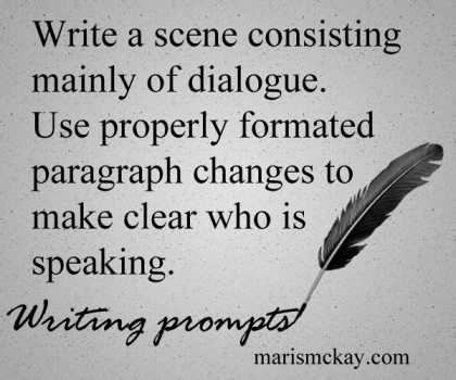 Writing Prompts and articles at MarisMcKay.com