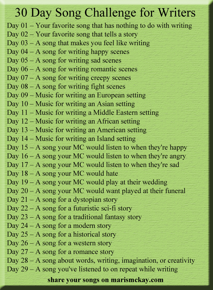 30 day song challenge