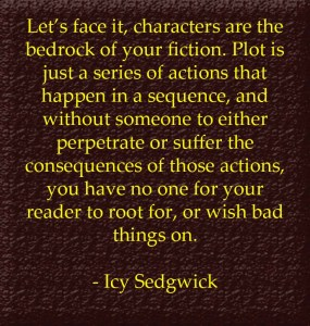 """Icy Sedgwick, quote from """"He was a man of good character"""""""