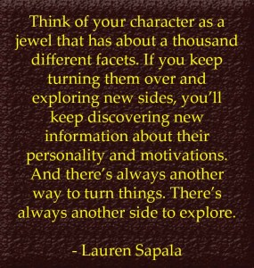 Lauren Sapala, quote from Peel Back the Mask of Your Protagonist