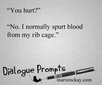 Dialogue prompts -marismckay.wordpress.com