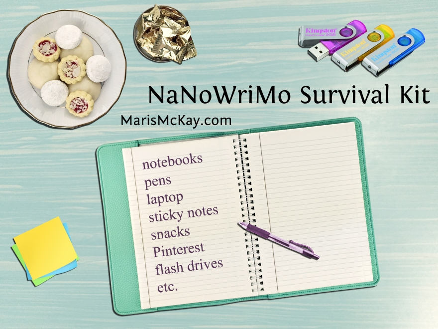 What's in your NaNoWriMo Survival Kit? marismckay.com