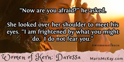 "Read more of Daressa's story in the new fantasy collection ""Women of Kern"" from Maris McKay https://amazon.com/author/marismckay"
