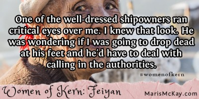 "Read more of Feiyan's story in the new fantasy collection ""Women of Kern"" from Maris McKay https://amazon.com/author/marismckay"