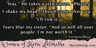 "Read more of Lelihatha's story in the new fantasy collection ""Women of Kern"" from Maris McKay https://amazon.com/author/marismckay"