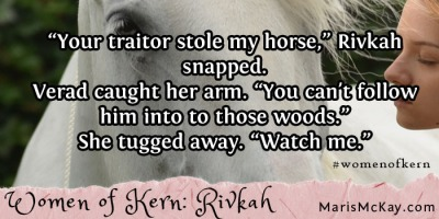 "Read more of Rivkah's story in the new fantasy collection ""Women of Kern"" from Maris McKay https://amazon.com/author/marismckay"