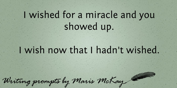 New writing prompt every Wednesday on MarisMcKay.com #writingprompts
